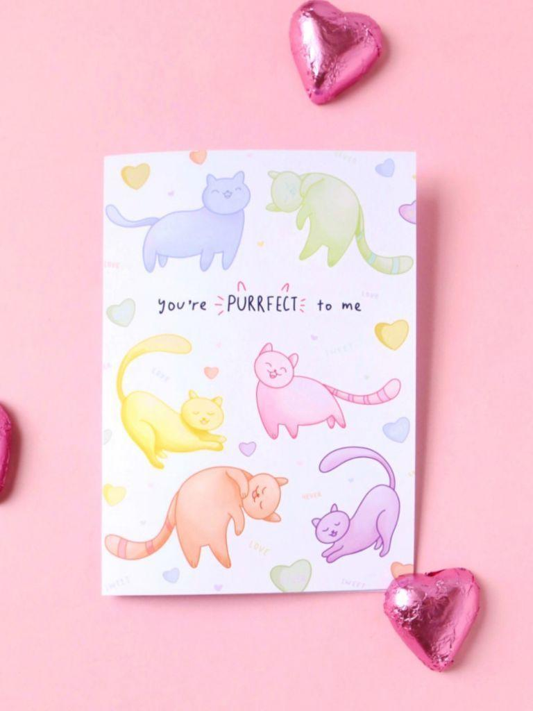 Cosmic Love Kitties Card | Trada Marketplace