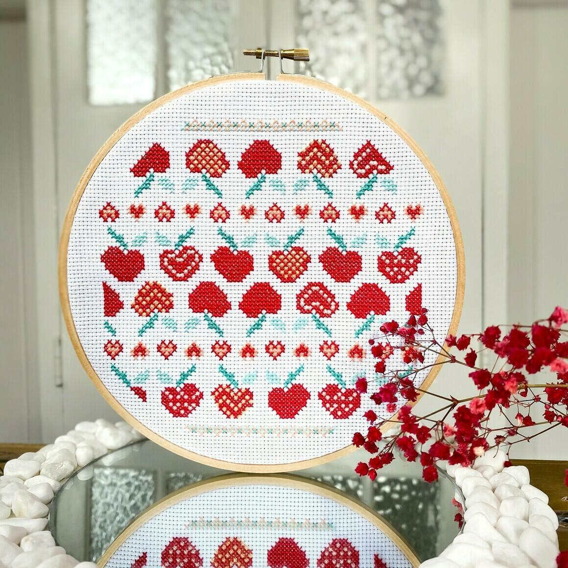 Apples for days cross stitch kit   Trada Marketplace