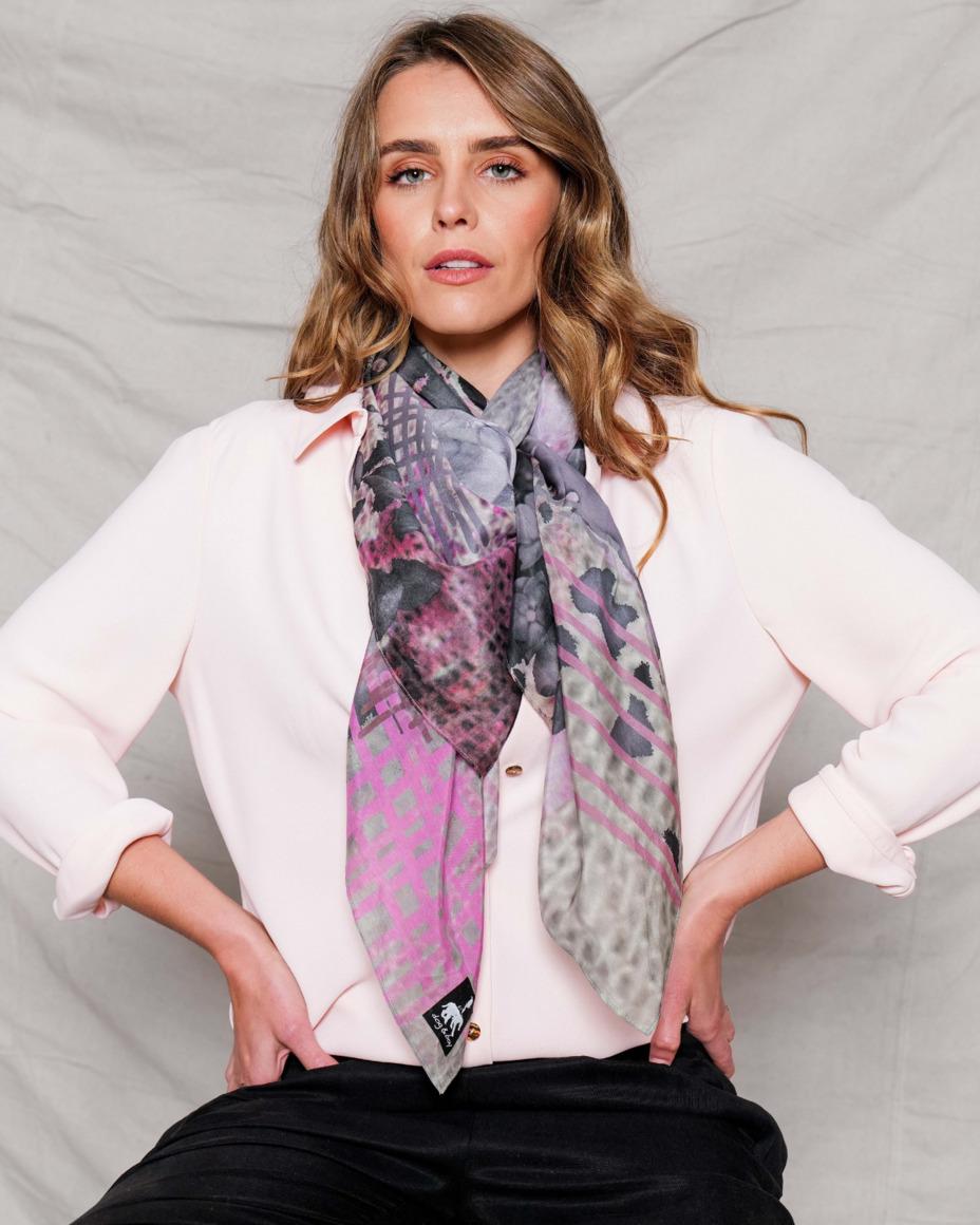 Silk-cotton scarf | GLADDEN | Trada Marketplace