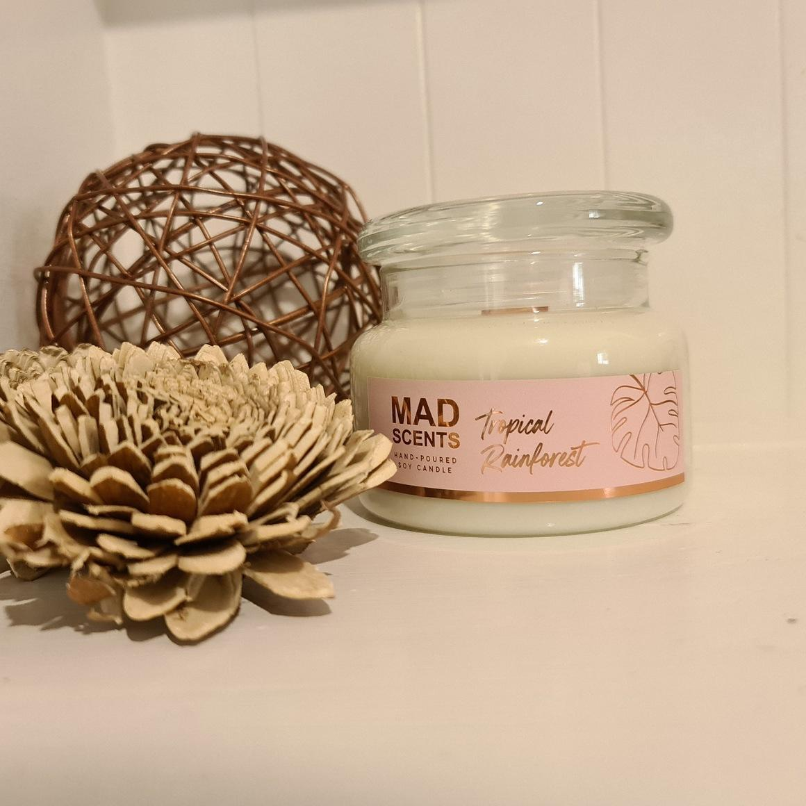 Tropical rainforest wood wick candle | Trada Marketplace