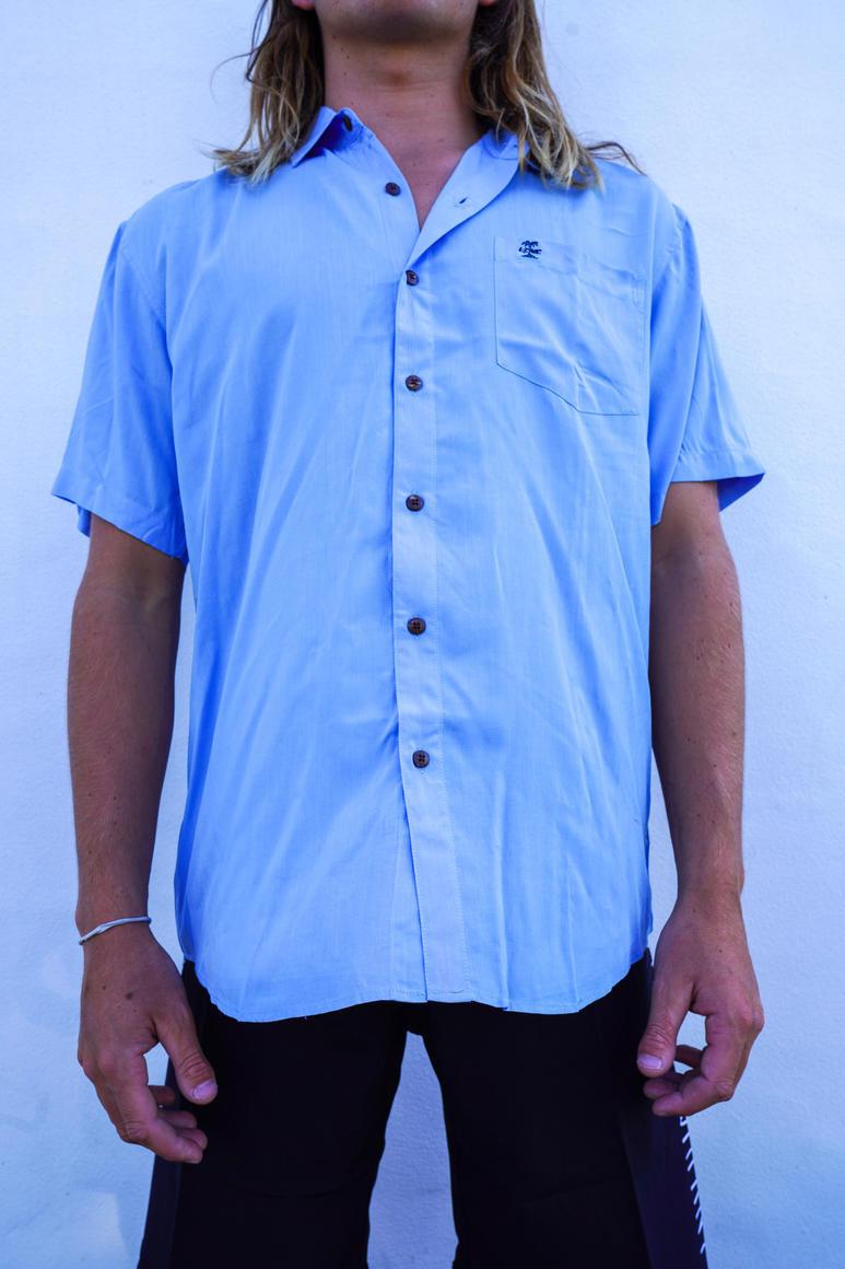 BLUE BUTTON UP SHIRT | Trada Marketplace
