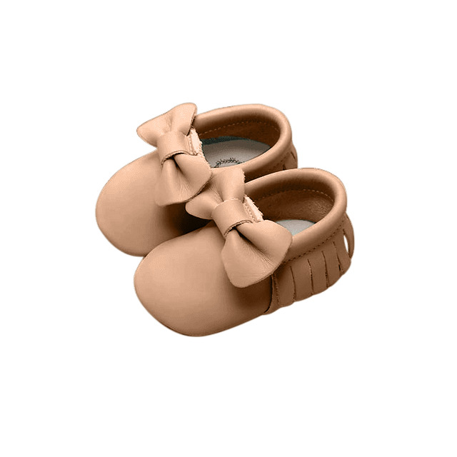 Moccasin - Bow - Beige | Trada Marketplace