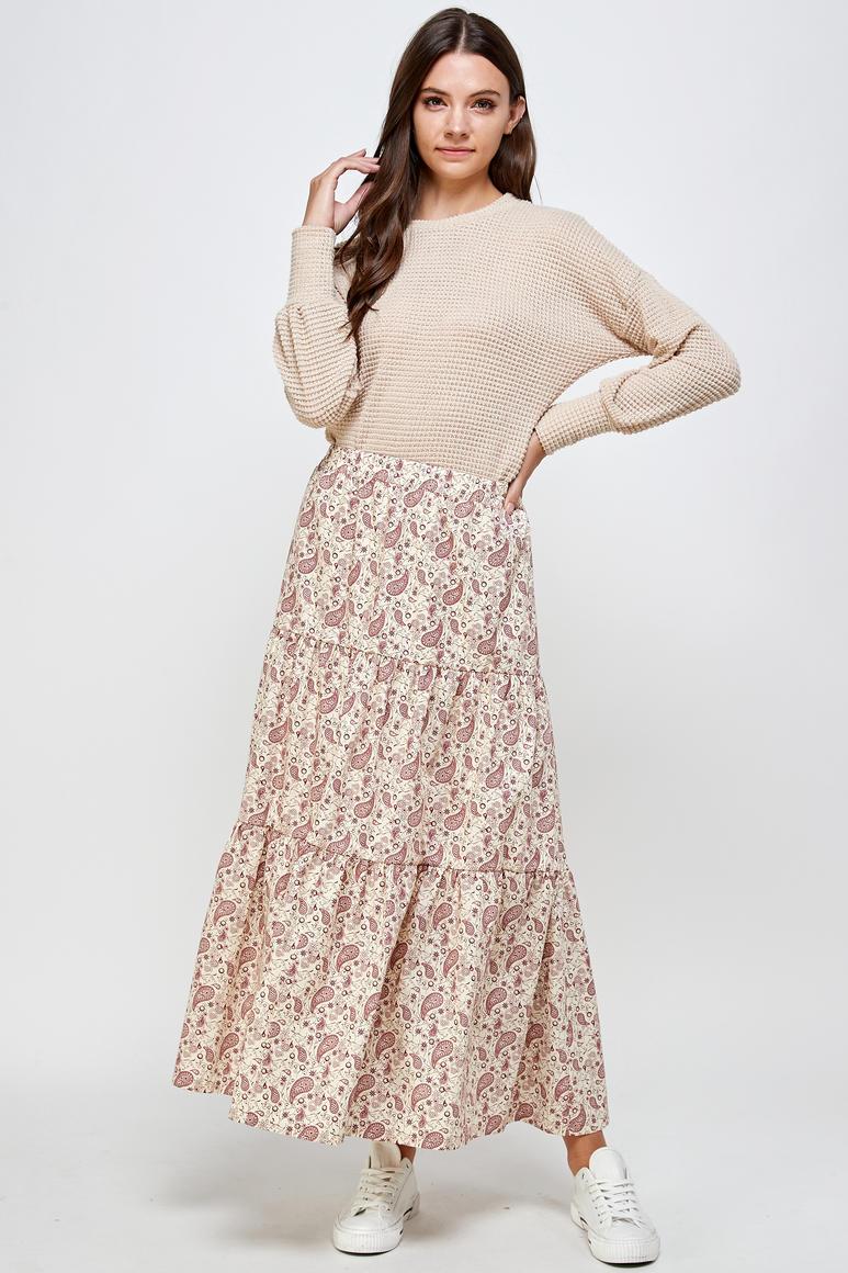 Susan Paisley Print Maxi Skirt | Trada Marketplace