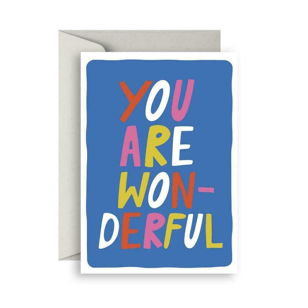 You are Wonderful greeting card   Trada Marketplace