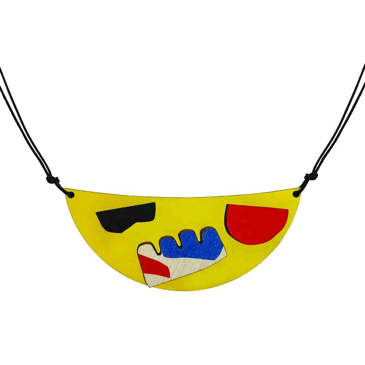 Abstract yellow necklace   Trada Marketplace