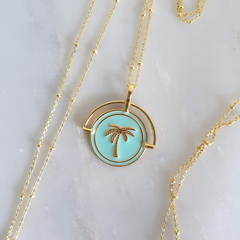 Aqua Costa Rica Pendant and Necklace | Trada Marketplace