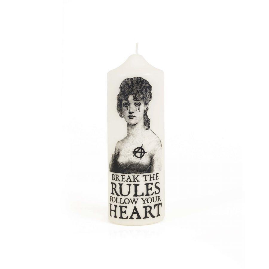 CORETERNO BREAK THE RULES PILLAR CANDLE | Trada Marketplace