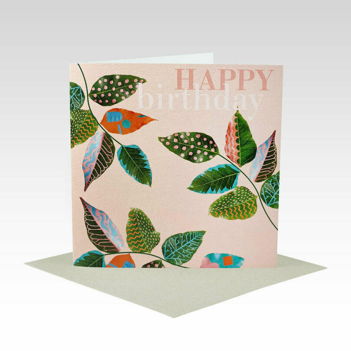 HB082 – Pink Birthday Painted Leaves   Trada Marketplace