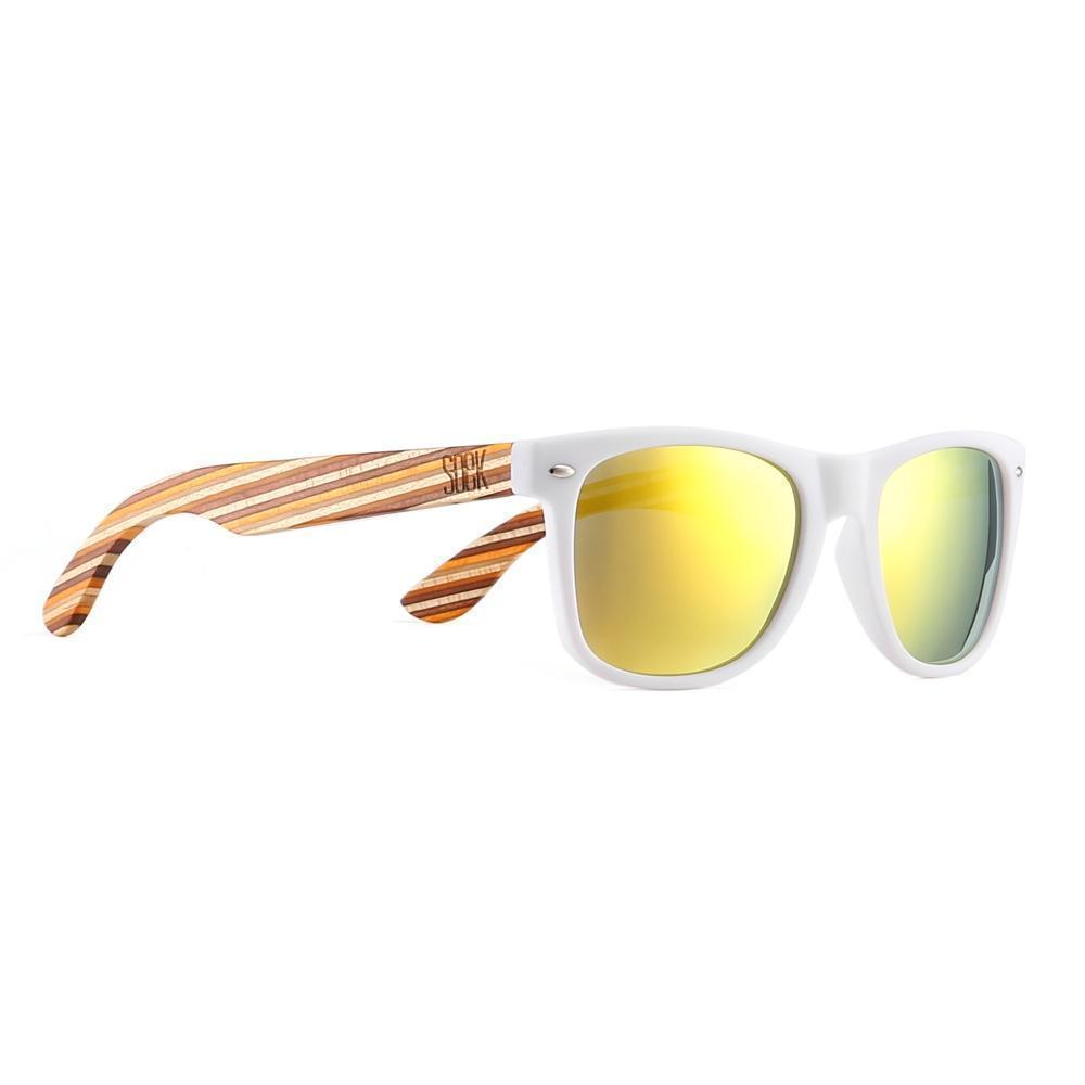 BURLEIGH - White Sustainable Sunglasses with Mustard Sustainable Arms and Yellow Polarized Lens - Adult | Trada Marketplace