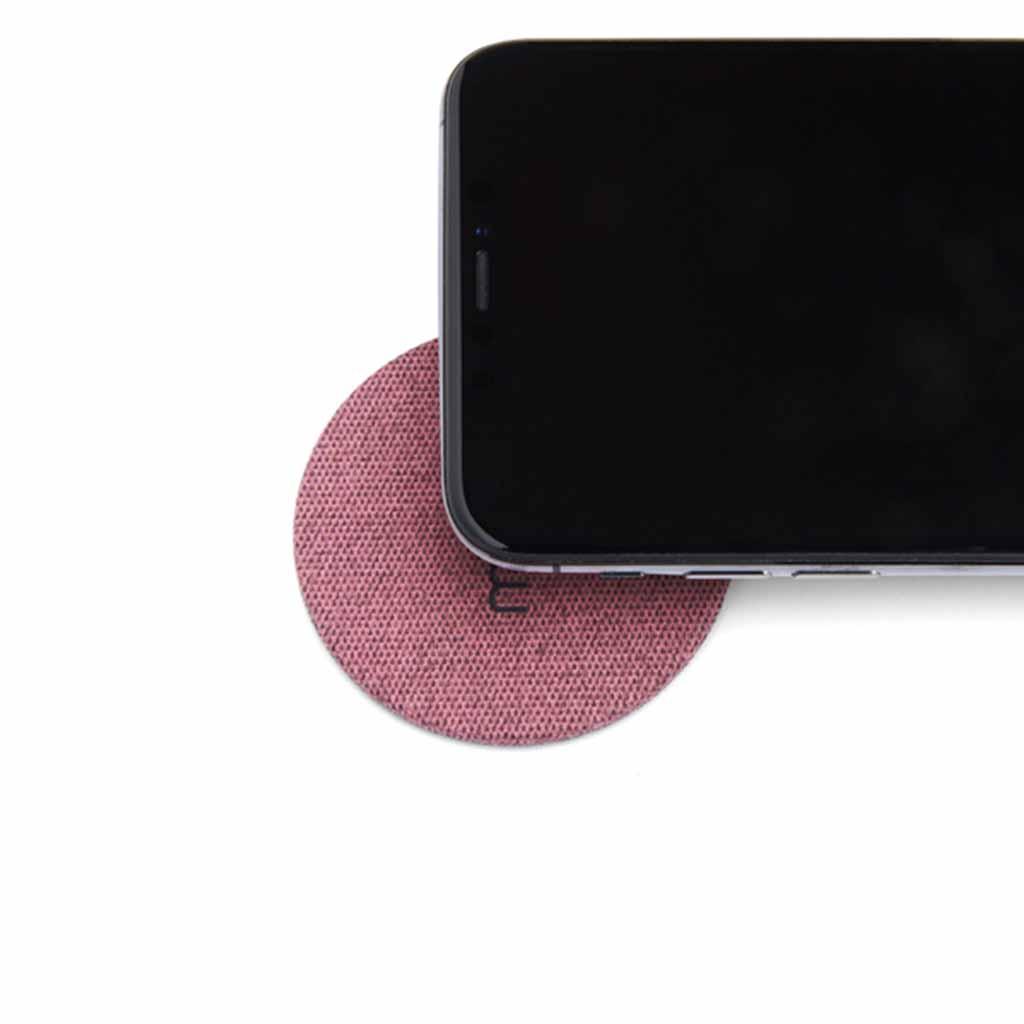 Moon Wireless Charging Pad Fabric Pink | Trada Marketplace