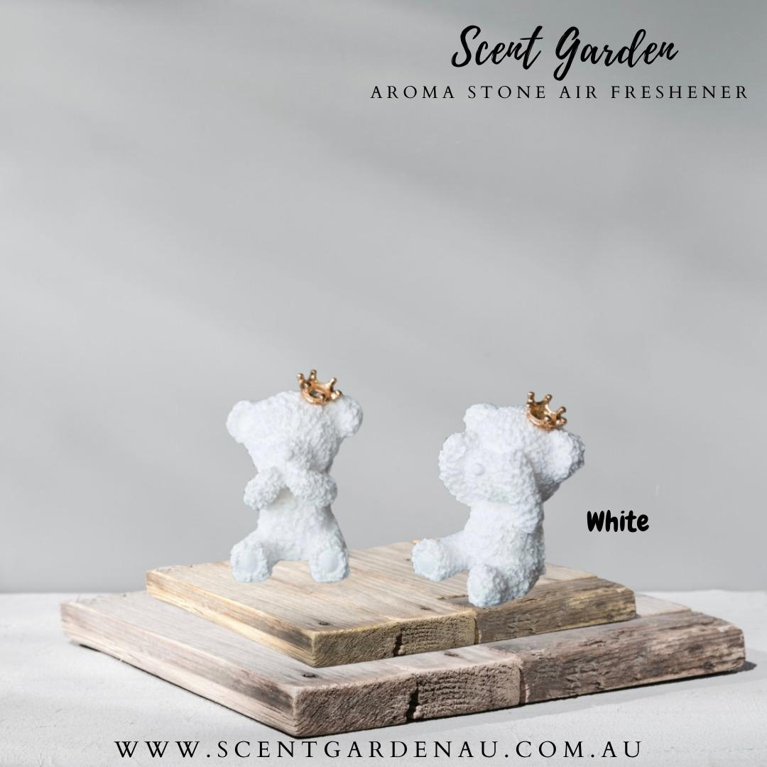Aroma Stone Car Air Freshener( White Teddy Mouth Hided ) | Trada Marketplace