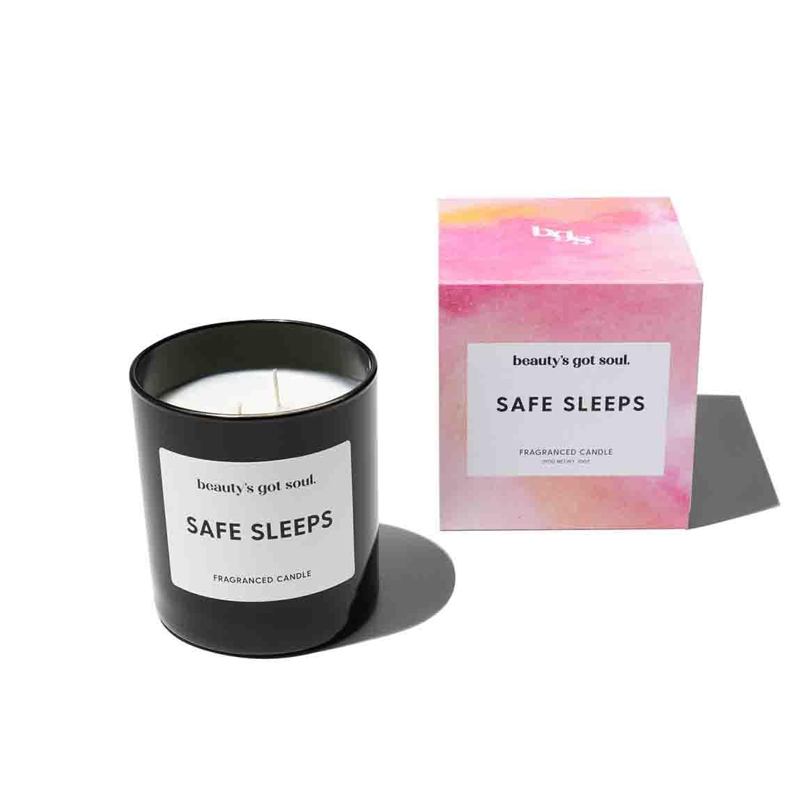 Beautys Got Soul Safe Sleeps Maxi Candle 290g   Trada Marketplace