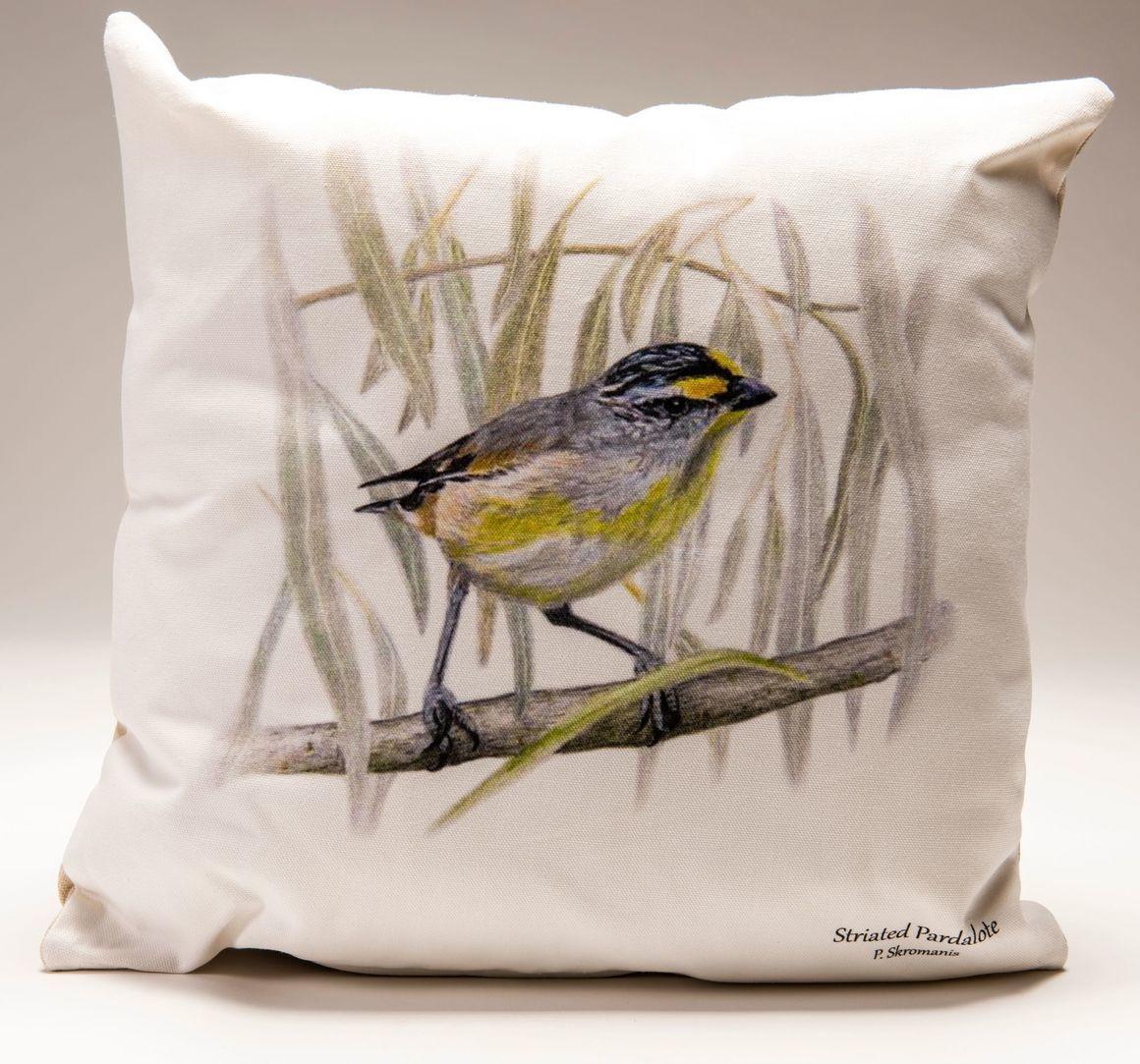 Cushion Covers - Striated Pardalote   Trada Marketplace
