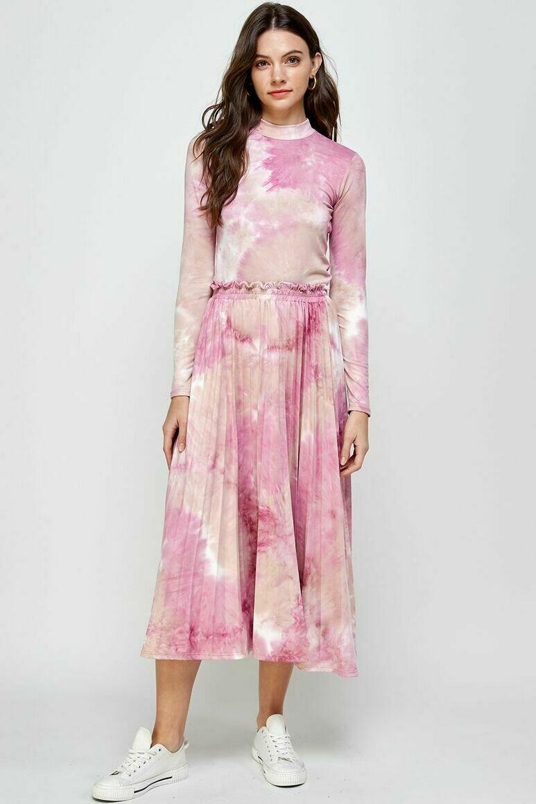 Joanna Pleated Tie-Dye (Pink Blush) | Trada Marketplace
