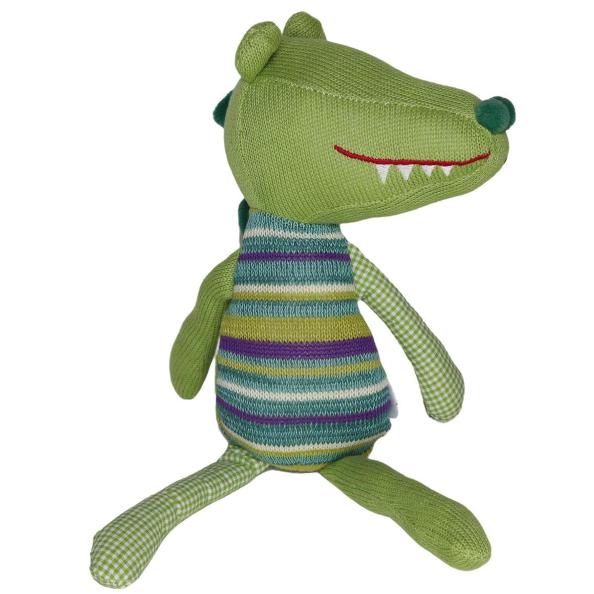Plush Toy Crocodile - Green/Stripe   Trada Marketplace