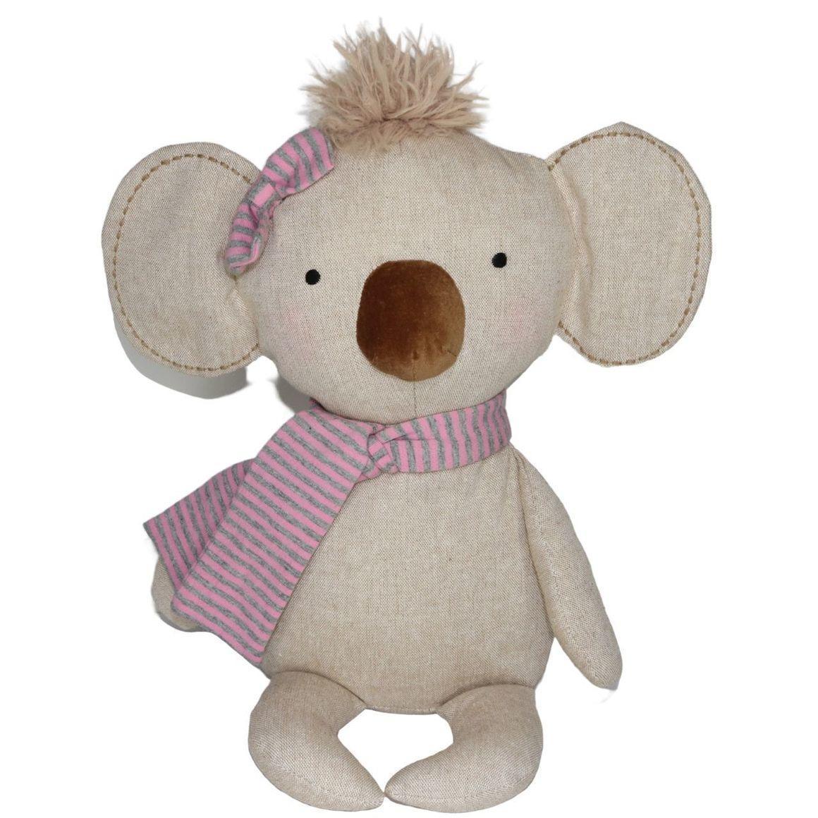 Plush Toy Koala - Pink Scarf    Trada Marketplace