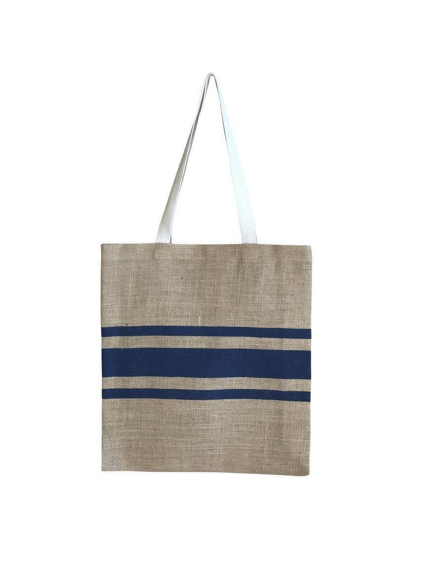Striped for Success Casual Shopper French Navy   Trada Marketplace
