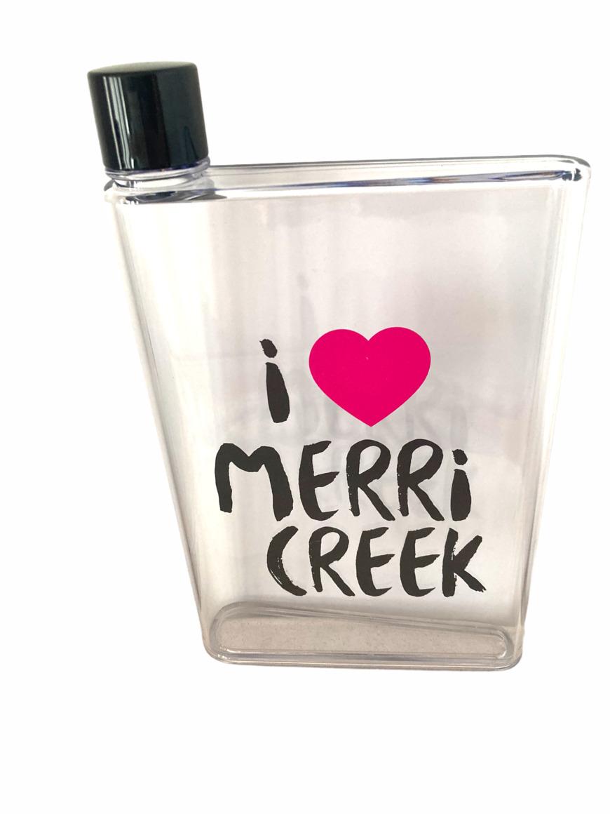 I Heart Merri Creek Flat Drink Bottle   Trada Marketplace