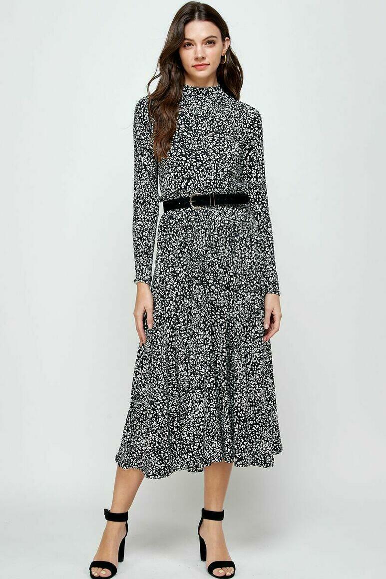 Joanna  Pleated Skirt (Animal Print) | Trada Marketplace