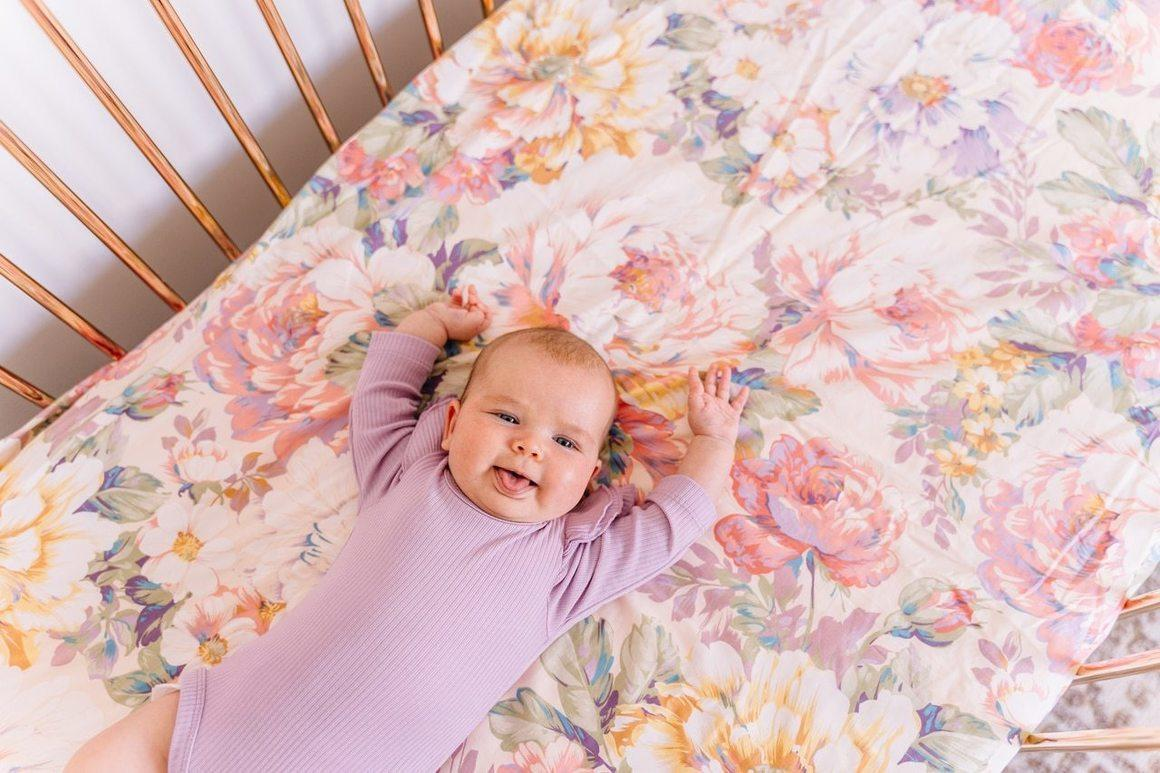 Couture Fitted Sheet in Blowsy Blooms | Trada Marketplace