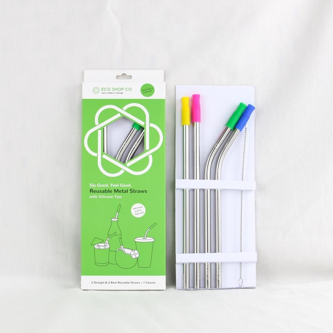 Reusable Straw - Set of 4 with Silicone Tips   Trada Marketplace