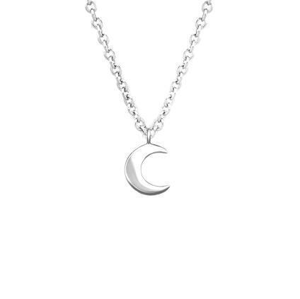 Crescent Moon Charm Necklace - Sterling Silver | Trada Marketplace