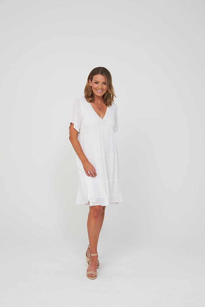 ERICA Dress | White | Trada Marketplace