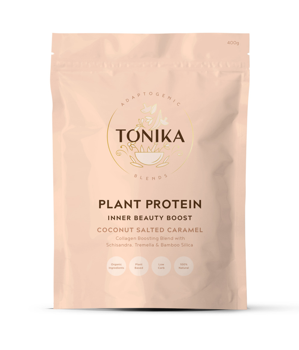 Tonika Plant Protein - Collagen boosting - Coconut Salted Caramel   Trada Marketplace