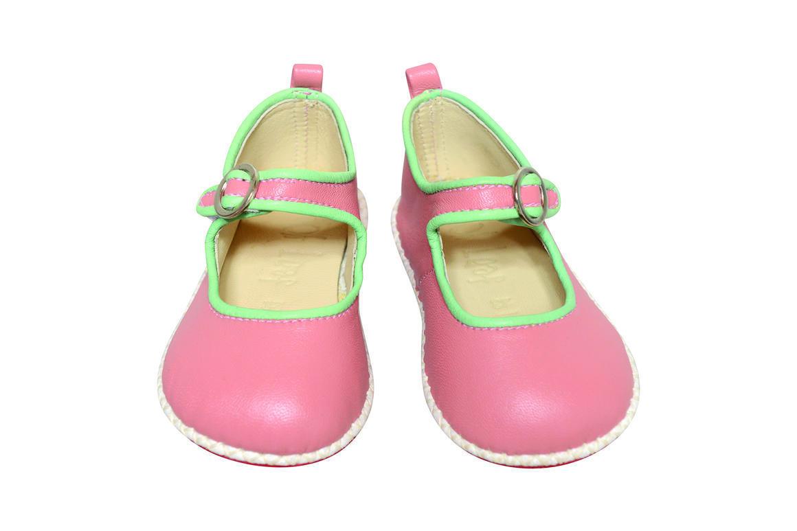 Ancona Circle Buckle Shoe pink/mint   Trada Marketplace