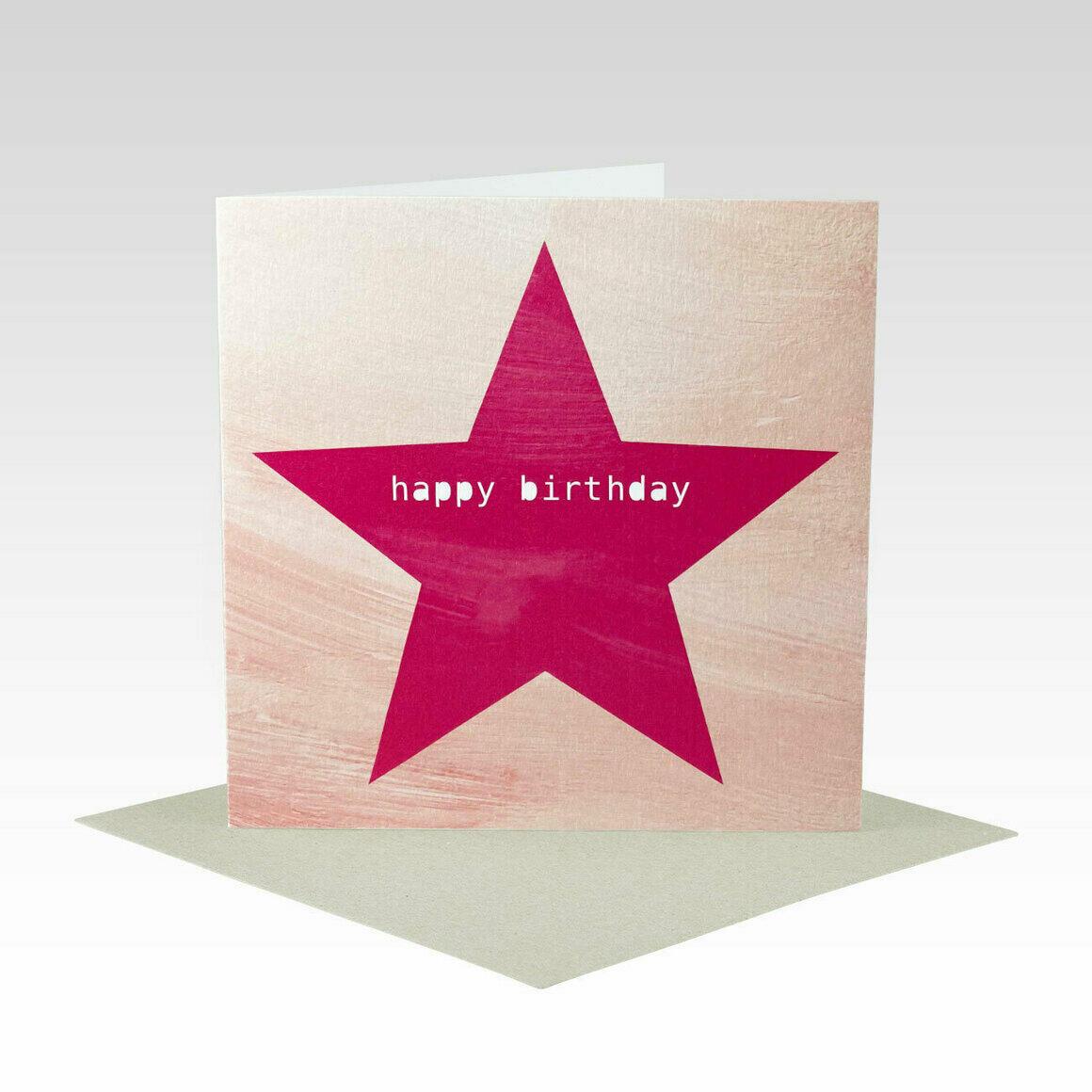 HB087 – Pink Peach Star Happy Birthday   Trada Marketplace