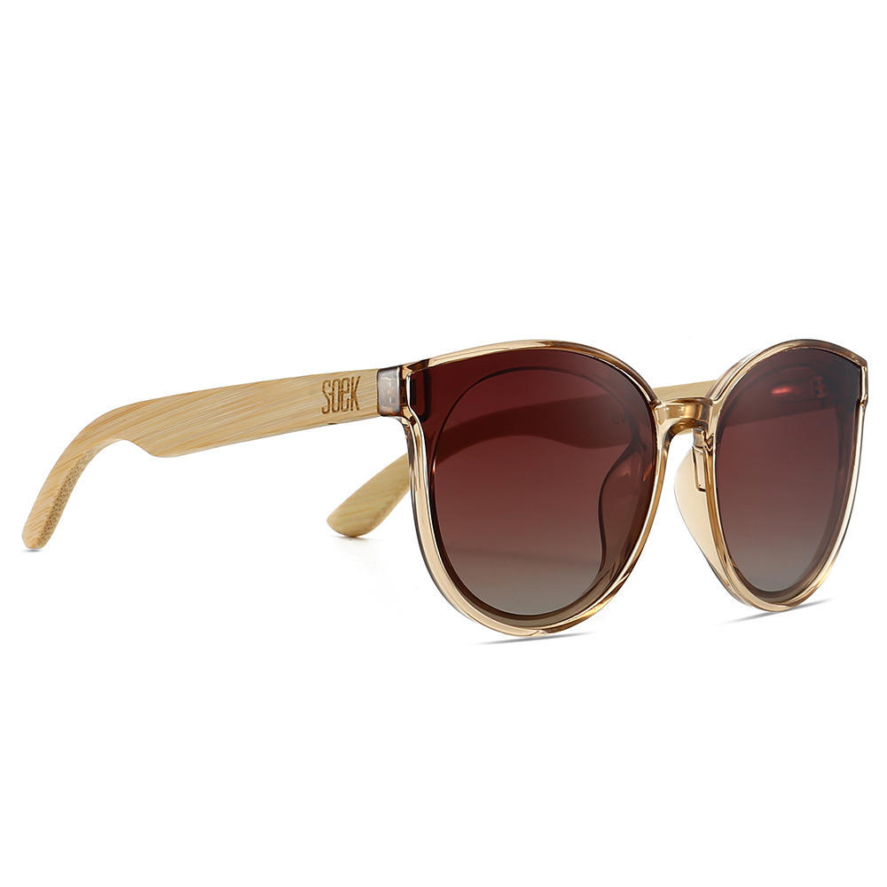BELLA CHAMPAGNE - Brown Polarised Graduated Lens with Bamboo Arms | Trada Marketplace