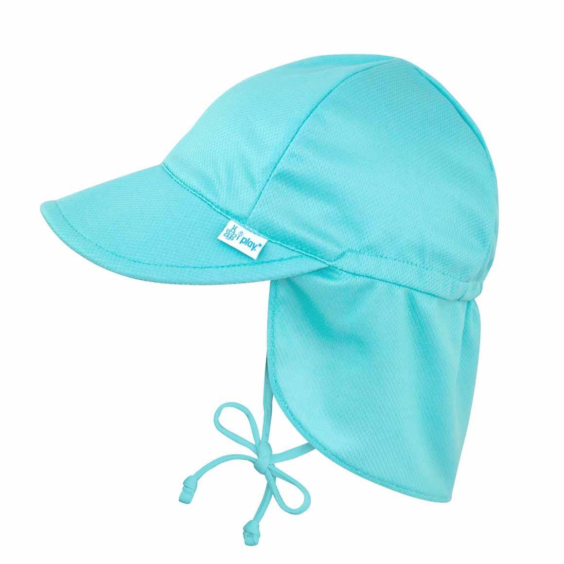 Breathable Flap Sun Protection Hat-Light Aqua | Trada Marketplace