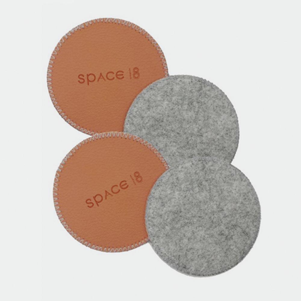 Cosy Eco-Felt Coasters (Set of 4) | Trada Marketplace