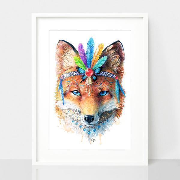 Fox Art Print - Spirit Animal Series | Trada Marketplace