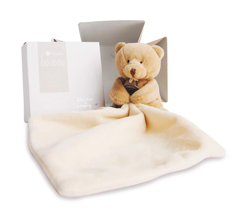 bear with doudou 10cm + flower box   Trada Marketplace