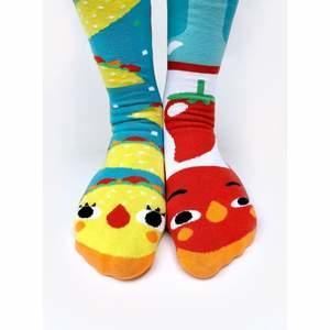 Taco & Hot Sauce   Crowded Teeth Series   Adult Teen Mens Womens Collectible Mismatched Socks   Trada Marketplace
