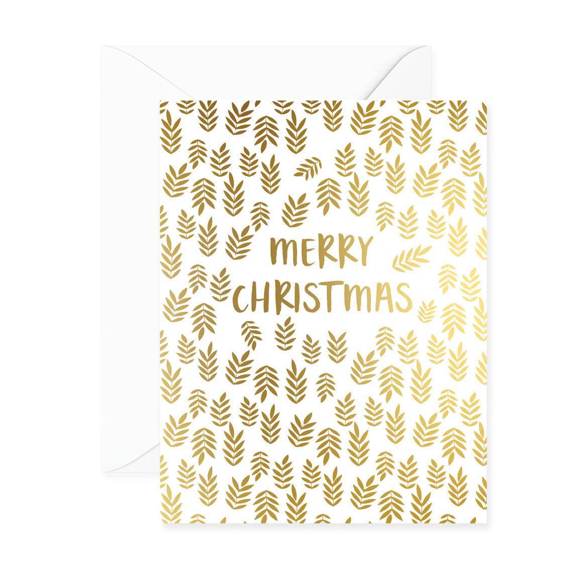 Merry Christmas Ferns Greeting Card | Trada Marketplace