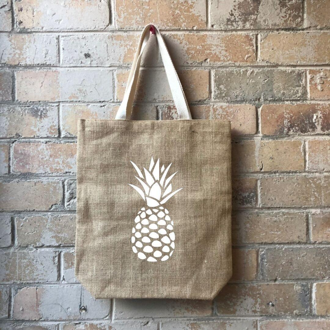 Pineapple Head Casual Shopper White   Trada Marketplace