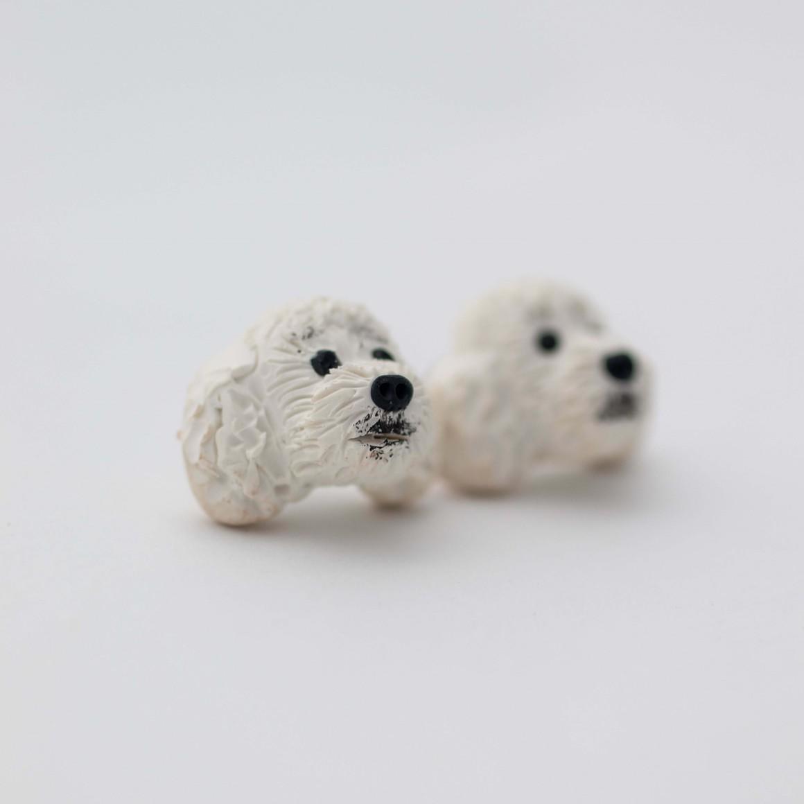 White poodle studs   Trada Marketplace