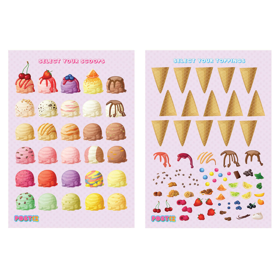 BUILD YOUR OWN ICE CREAMS TWIN PACK A5 ECO FRIENDLY STICKER SHEET TWIN PACK   Trada Marketplace