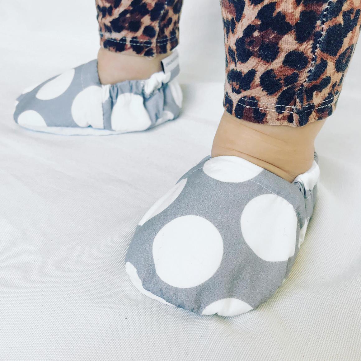 Grey Spot Baby Booties | Trada Marketplace