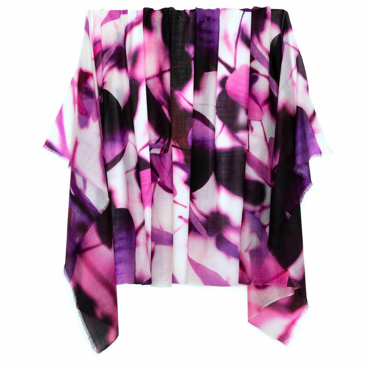Leaves of Deep Purple Australian Merino Wool & Cashmere Scarf   Trada Marketplace