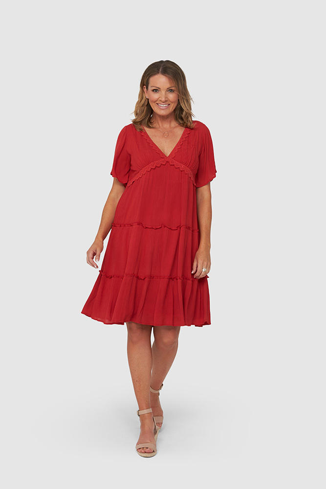 ERICA Dress | Red | Trada Marketplace