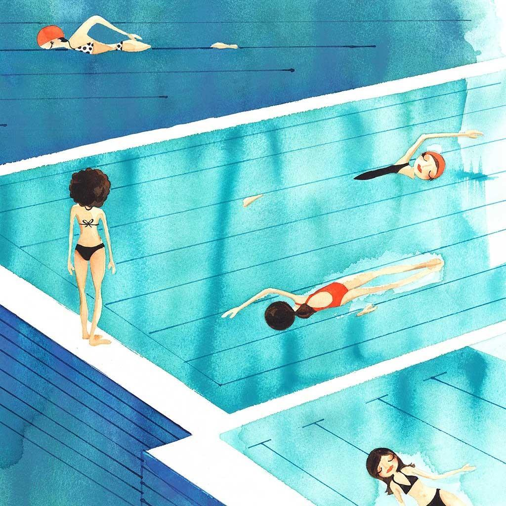 Sunday Swim Art Print | Trada Marketplace