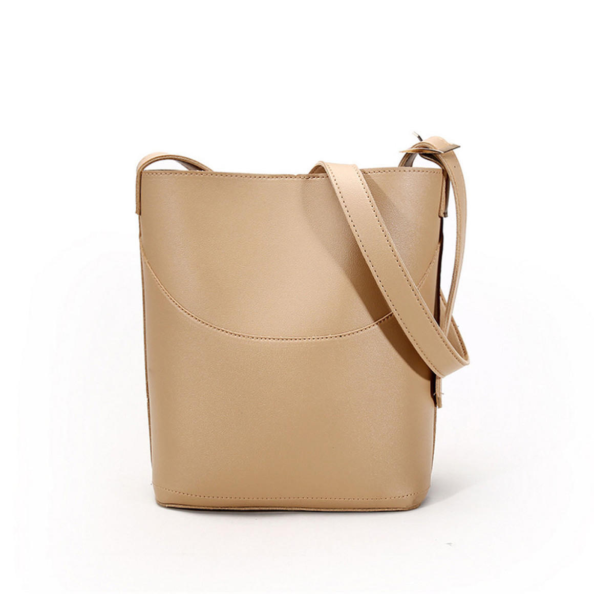 THSB1015: Beige:  Eva Bucket Tote Bag | Trada Marketplace