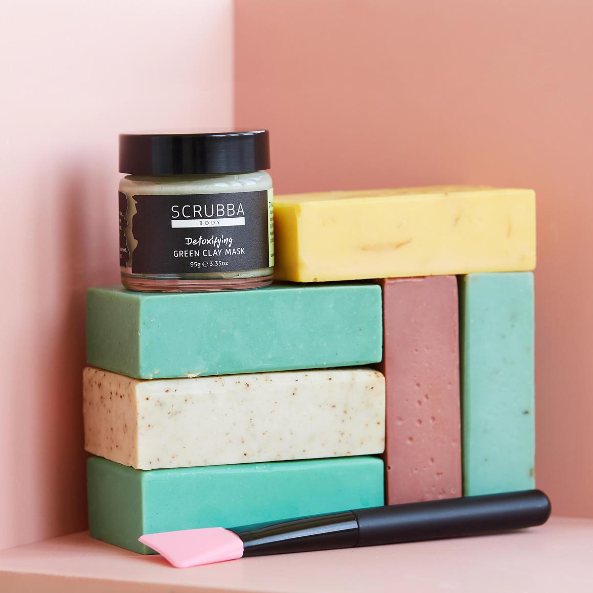 Spearmint, Pumice & Green Clay Natural Handmade Soap | Trada Marketplace