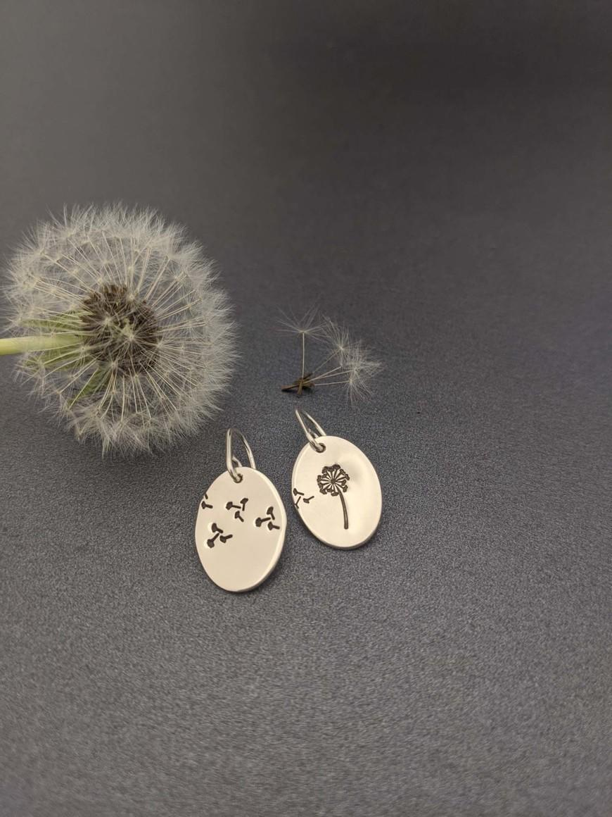 STAMPED – Dandelion earrings   Trada Marketplace