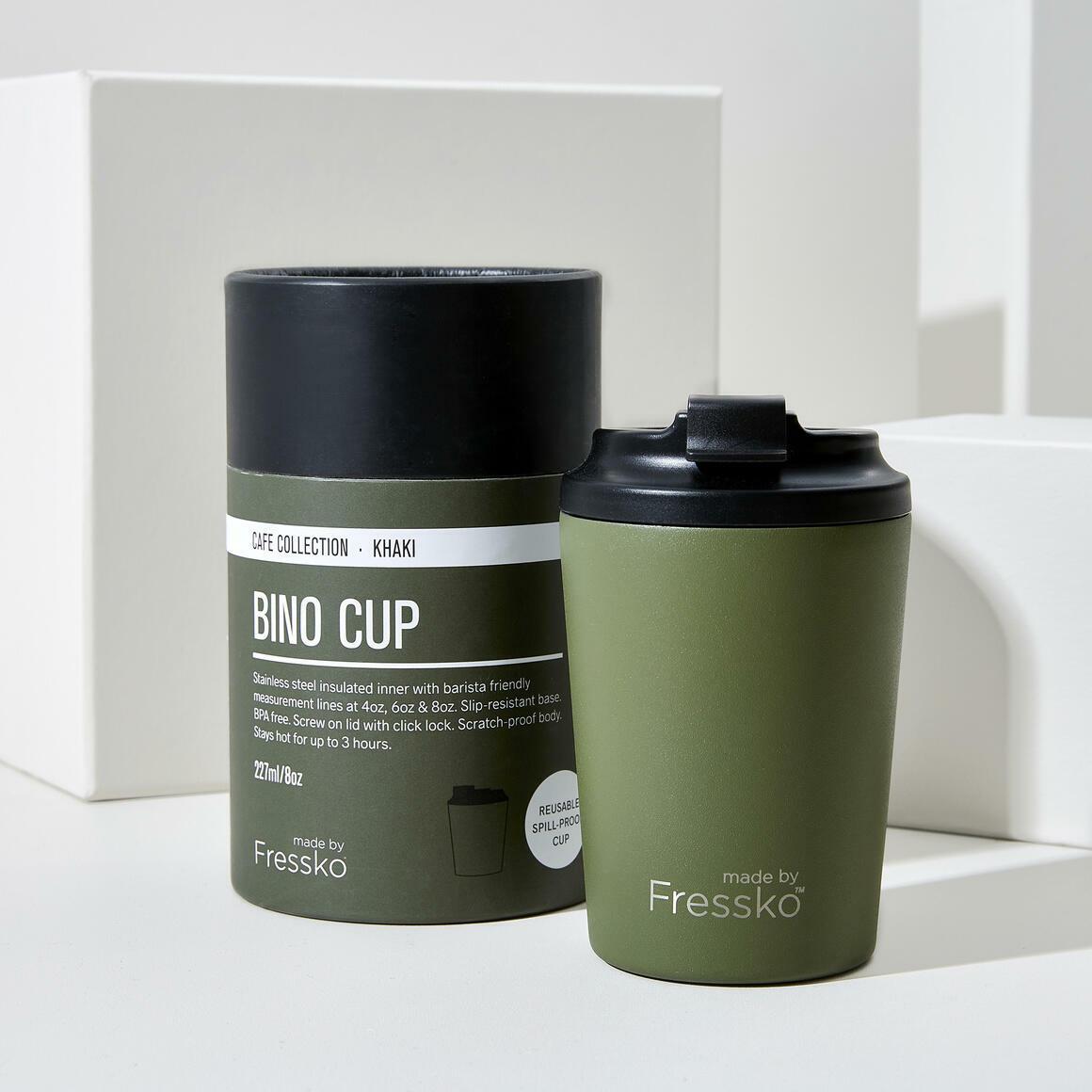 Fressko BINO 8oz Stainless Steel Reusable Cup GREEN | Trada Marketplace