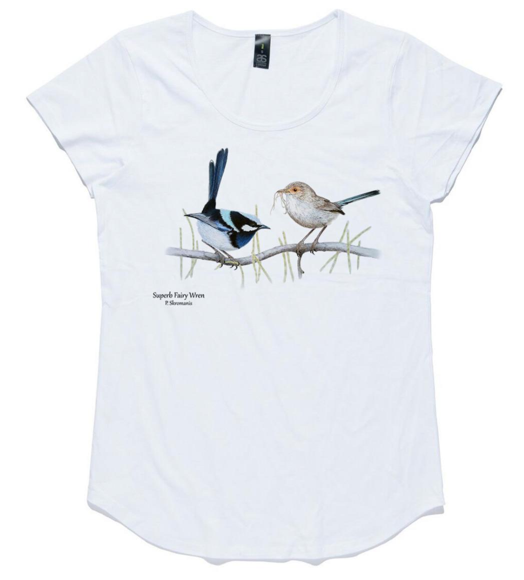 T-shirt - Superb Fairy Wren Pair   Trada Marketplace