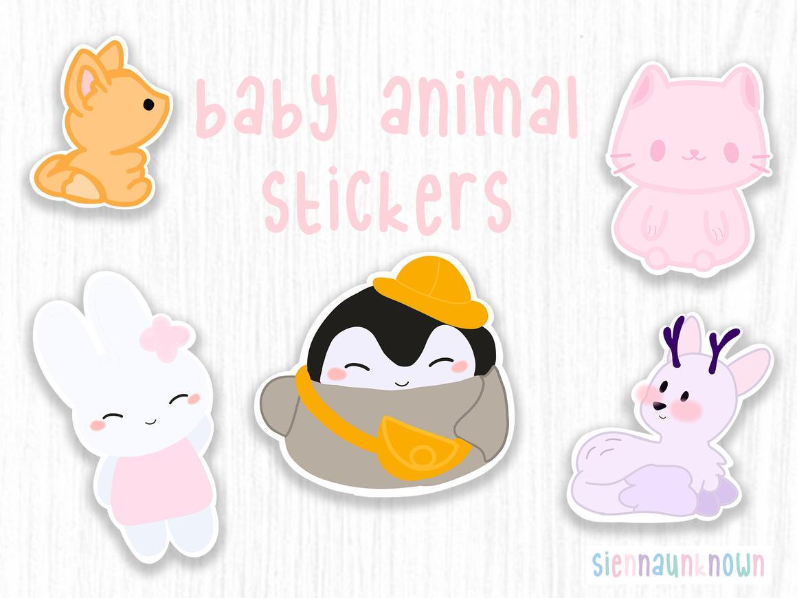 Animal stickers Kawaii animals | Trada Marketplace